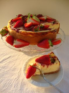 Strawberry and lime cheesecake