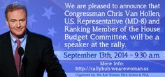 We are excited to announce a new addition to our list of great speakers, Congressman Chris Van Hollen who represents the 8th District of Maryland and is Ranking Member of the House Budget Committee. He has a stellar record of supporting legislation that is in best interest of women, including issues such as health care, reproductive choice and fair pay. - See more at: http://blog.wearewoman.us/2014/09/rep-chris-van-hollen-to-speak-at.html#sthash.cj3mUTLS.dpuf