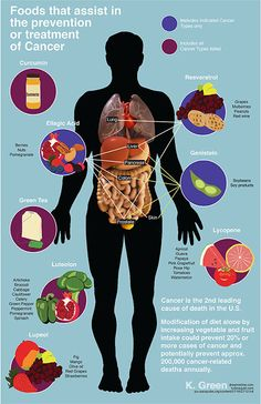 scientificillustration. foods that prevent cancer