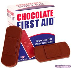 Chocolate First Aid Bandages 5-Packs: 6-Piece Box