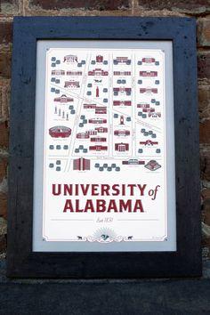 University of Alabama Map Good.