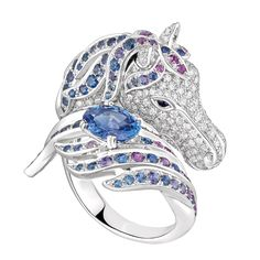 Pégase, the horse ring Blue sapphire, a Maison Boucheron Jewelry creation. A Boucheron creation tells a Story, that of the Maison and your own.