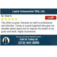 This office is great. Everyone on staff is professional and attentive. Terese is a great. Dentist Reviews, Chicago Loop, Public, Advice, Health, Health Care, Salud