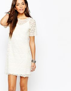 New Look All Over Embroidered Shift Dress