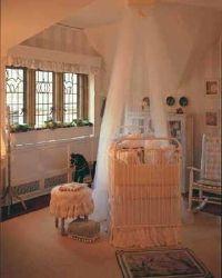 Pumpkins and cabbages appear in a room inspired by Mother Goose's garden. Designer: Jennifer Norris, Jennifer Norris Interiors