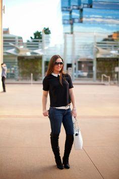 {City Chic}  #Fall #Autumn #Chanel #Belt #Denim #Handbag #Nordstrom #AlexisBittar #Fashion #Style #Blogger #Blog #Lifestyle #Photography #FashionBlogger #StyleBlog #Black #White #Womensfashion
