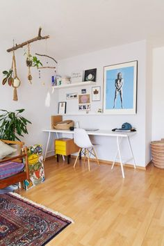 Decor, Inspiration, Home And Living, Furniture, Interior, Beautiful Homes, Home Decor, Room, Office Desk