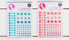 My 20 Favorite Journaling Bible Supplies   Enamel dots are great sticker embellishments to use on the pages of your Journaling Bible. Heidi Swapp and Freckled Fawn sell them.