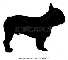 French Bulldog purebred dog standing in side view - vector silhouette isolated - stock vector French Bulldog Drawing, Bulldog Images, Shadow Art, Purebred Dogs, Side View, Animal Drawings, Bulldog Cake, Othello, Side Profile