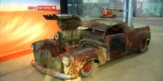 """fredworxz: """" Above is ….Mad Max 2 Interceptor @ the scrap yard (one of many made). Next is the Ford Landau bad guys car from Mad Max The last is a Holden ute for the up and coming Mad Max Fury. Bliss, Death Race, Mad Max Fury Road, Custom Vans, Go Kart, Trucks, Vehicles, Rat Rods, Post Apocalyptic"""