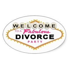Las Vegas Divorce Party Stickers