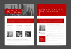 Modern brochure / flyer template by Orson on @creativemarket