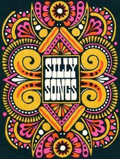Silly Songs illustration by John Alcorn for The Fireside Book of Children's Songs, 1966: