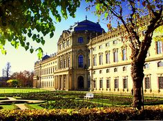 Würzburg Residence, Germany - Overflowing with luxury inside and surrounded by well-groomed garden stretches, the residence has been placed among the UNESCO World Heritage Sites.