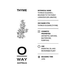One of our 0kms essential oils comes from the thyme grown on our 50000 sq metre biodynamic farm OrtOfficina which is perceived as an ecosystem where human beings plants and animals live in synergy and harmony. #biodynamic #oway #owayaustralia #essentialoils #hair #organichair #cleanliving #brisbanehair #sydneyhair #melbournehair