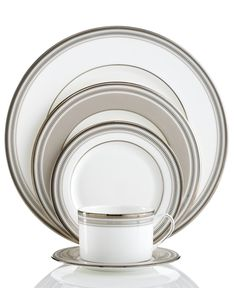 kate spade new york Palmetto Bay 5 Piece Place Setting - Fine China - Dining & Entertaining - Macy's Bridal and Wedding Registry Casual Dinnerware Sets, Palmetto Bay, China Sets, China Patterns, China Dinnerware, China Porcelain, Fine China, Yorkie, Kate Spade