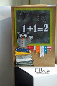 CB Paper: Geklaut, weil absolut süß... Teacher Card made with Stampin' Up! Owl Punch
