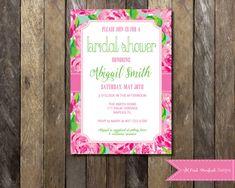 Lilly Pulitzer Bridal Shower Invitation by PinkStarfishDesigns