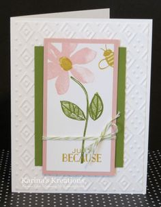 Karina's Kreations: Stampin'Up Garden in Bloom Cards!