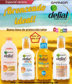 Bronceado ideal, con Delial ☀   #turincondelahorro #ProteccionSolar #ProtectorSolar #garnier #delial #broceado #sol #verano #AmbreSolaire #FelizViernes #AhorroCompraMensual #EmprendEspacio #familia #ahorro