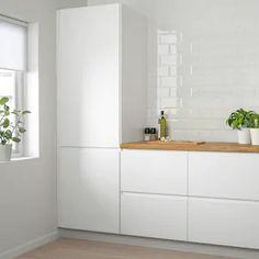 "VOXTORP Door, white matt white, 18x30"" - IKEA Ikea Ringhult, Classic Kitchen, Kitchen Modern, Modern White Kitchens, Functional Kitchen, Modern Farmhouse, Scandinavian Kitchen, White Doors, Cuisines Design"