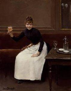 1890.........LE TOAST........PARTAGE DE LE PEINTRE JEAN BERAUD...........SUR FACEBOOK......
