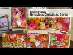 【HowTo】 Christmas Cards with Dylusions Products by Dyan Reaveley; next year...