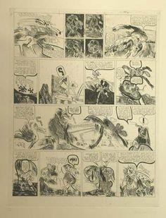 """Alfonso #Bonifacio """"Norberto el Pata y Pitin"""", 1975. Aguafuerte y aguatinta sobre Zinc de 44.5x34 cm., Papel Guarro de 250 gr de medidas 70x52 cm. Ej.: 60 #art #etching #SanSebastian"""
