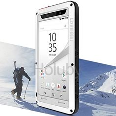 LOVE MEI Powerful Metal + Silicone Protective Cover with Temperd Glass Screen Protector for Sony Xperia Z5 Premium - White