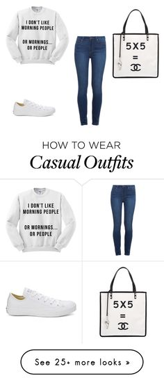"""Casual"" by thaloogie on Polyvore featuring Converse, Paige Denim and Chanel"