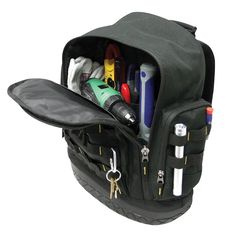 When dad's on the go, make sure he's got all the tools necessary to get the job done. A heavy duty tool bag is a convenient, compact solution for toting gear from one project to the next.