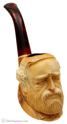 He must have just signed the surrender. (Southerners, don't take it personally.)  Misc. Estate Meerschaum Robert E. Lee (with Case) Pipes at Smoking Pipes .com