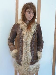Genuine late 60's sheepskin Afghan coat  small- UK size six