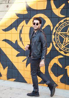 Leather Moto Jacket x Acne Jeans Moto Jacket, Black Leather, Motorcycle 041b43b434