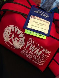 Badge and swag bags from #ywm2013