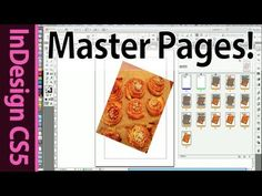 InDesign CS5 Tutorial: Layout with Master Pages (Part 4) - YouTube
