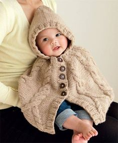 Ravelry: Cable Cape pattern by Mel ClarkA hooded cape for baby, worked from the top down with increases worked into the cables. I tried charting the cables but they ended up looking more complicated than they really are, so the pattern is written. Baby Knitting Patterns, Knitting Blogs, Knitting For Kids, Baby Patterns, Free Knitting, Knitting Charts, Knitting Projects, Crochet Gifts, Crochet Baby