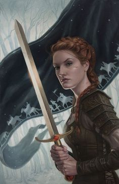 Image result for fantasy red hair paladin