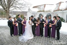 Nancy and Brian with their bridal party.  @dbeckerphoto