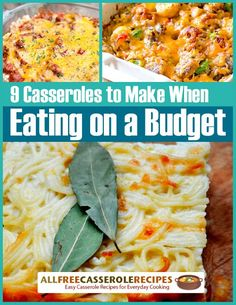 """9 Casserole Recipes to Make When Eating on a Budget"" Free eCookbook 