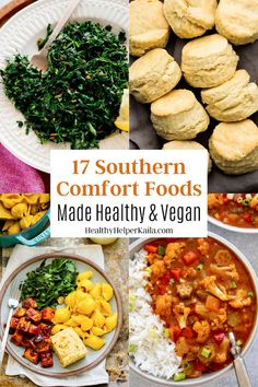 17 Southern Comfort Foods Made Healthy and Vegan | A roundup of delicious Southern staples that will satisfy all your cravings without any of the high fat and high calorie counts of the classics! All healthy and vegan. #healthycomfortfood #vegancomfortfood #comfortfood #southernfood #soulfood #healthyrecipes #healthysoulfood #healthysouthernfood #southercuisine #southernvegan #veganrecipes