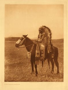 portfolio 18 page plate no. 629  Chief Hector - Assiniboin tribe