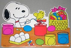 SNOOOPY & WOODSTOCK DECORATING EASTER EGGSk