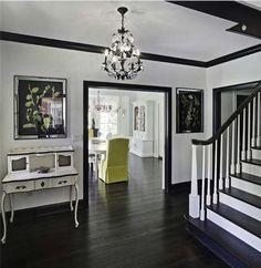 black trim white walls - Google Search