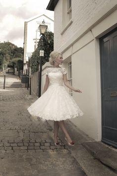dream wedding dress right here... but longer.