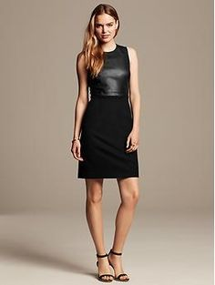 Really looking forward to what else BR has to offer now that Marissa Webb is their Creative Director.  Love this dress:  Sloan-Fit Faux-Leather Sheath | Banana Republic
