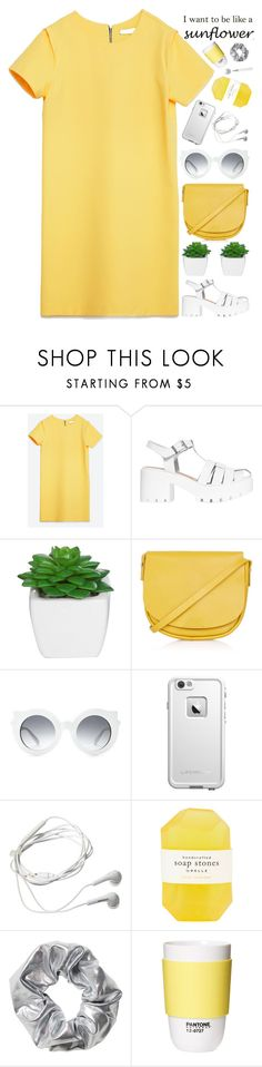 """""""LIKE A SUNFLOWER"""" by evangeline-lily ❤ liked on Polyvore featuring Zara, Topshop, LifeProof, Samsung, Pelle, Monki, ROOM COPENHAGEN, topshop, zara and Spring2017"""