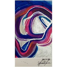Jan 30, 2015 original painting with liquid silver detailing (4x6) #amoriedailypainting #art #artist #painting #colourful