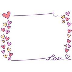 バレンタインフレーム無料イラスト(ハート) Heart Doodle, Powerpoint Background Design, Pretty Fonts, Pink Wallpaper Iphone, Borders And Frames, Collage Frames, Boarders, Doodles, Bullet Journal