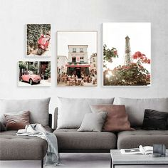 """Old House Car Tree Vintage Art Poster Nordic Landscape Canvas Print Flower Tower Wall Painting Modern Home Decoration Pictures"" Decorating With Pictures, Decoration Pictures, Flower Tower, Geometric Wall Art, Home Decor Paintings, Living Room Pictures, Colorful Pictures, Picture Wall, Flower Prints"